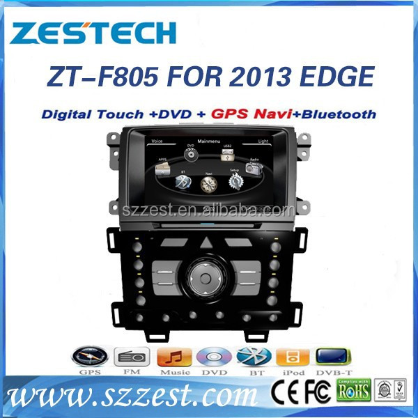 ZESTECH Multimedia for Ford Edge 2013 Touch screen Car DVD player with GPS navigation system Bluetooth USB Control
