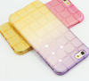 Factory wholesale new 4.7-inch Block cube soft TPU case for iPhone6 gradient Phone Case