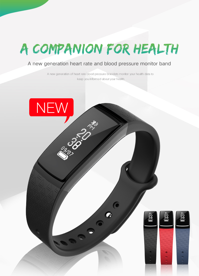 New B13 Smart Wristband Blood Pressure Heart Rate Monitor Smart Band Sports Pedometer Fitness Tracker Smart Bracelet Smartband