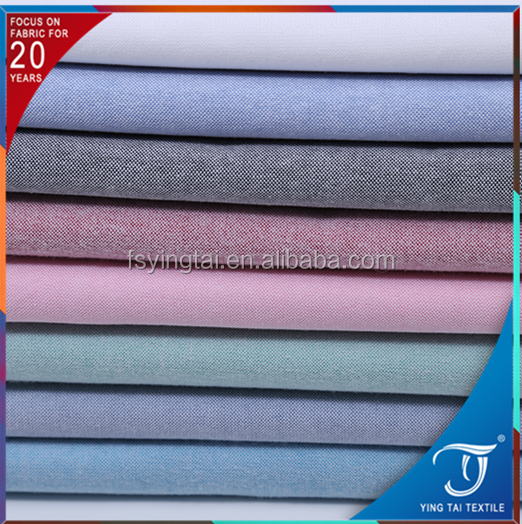 yarn dyed comfortable breathable Oxford fabric wholesale textile for man shirt 100 cotton fabric