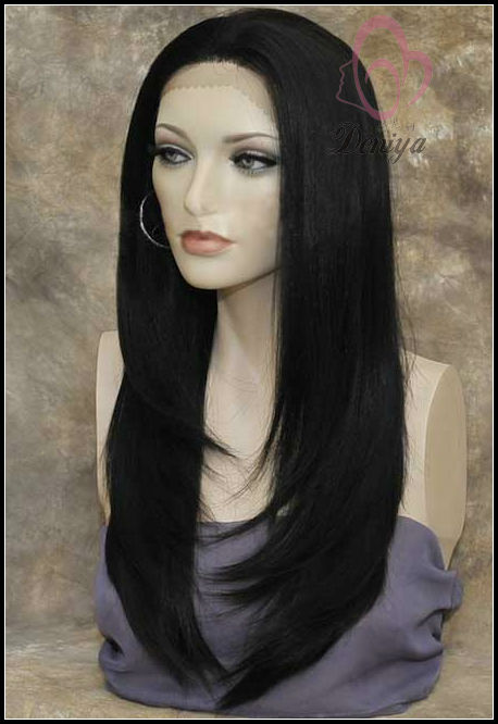 cheap indian remy hair lace front wig with bang
