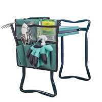 Folding Hanging Lightweight Portable Garden Side Kneeler Tool Bag with Handle to Storage Gardening Tools
