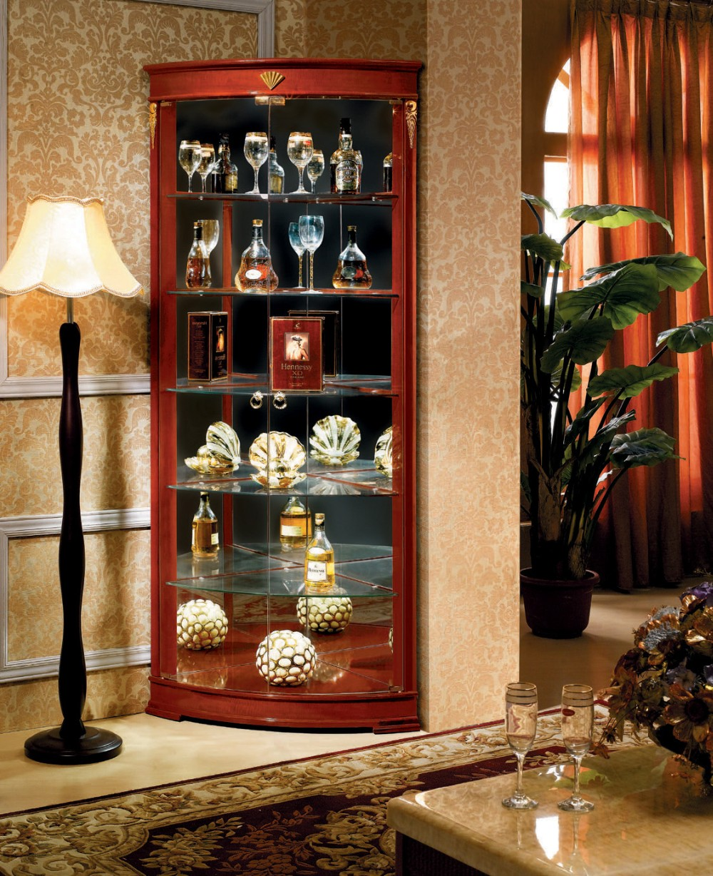Tall Living Room Cabinets Foshan Vertical Storage Furniture Antique Tall Corner Bar Cabinet