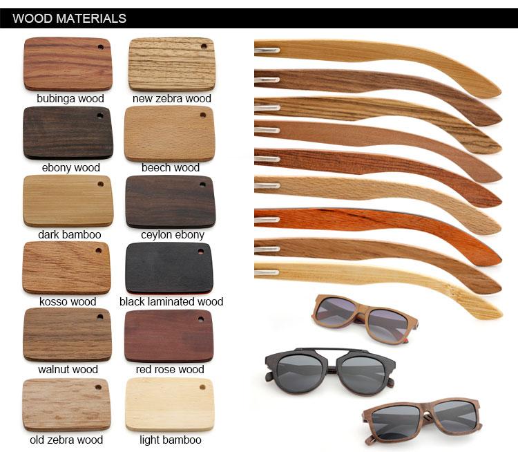 Quente-venda de alta qualidade polarizada logotipo personalizado madeira óculos de sol 2019