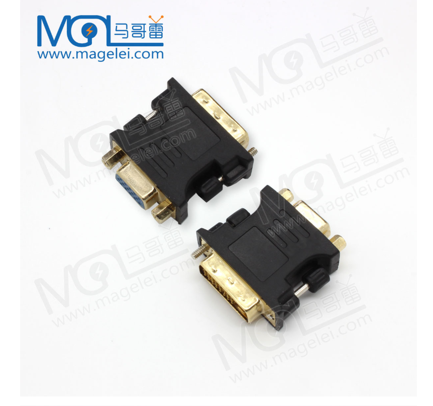 DVI to VGA adapter DVI 24+5 male to VGA female interface video card to monitor adapter