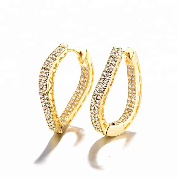 Latest Fashion 18K Gold Plated Earring Design, Stylish