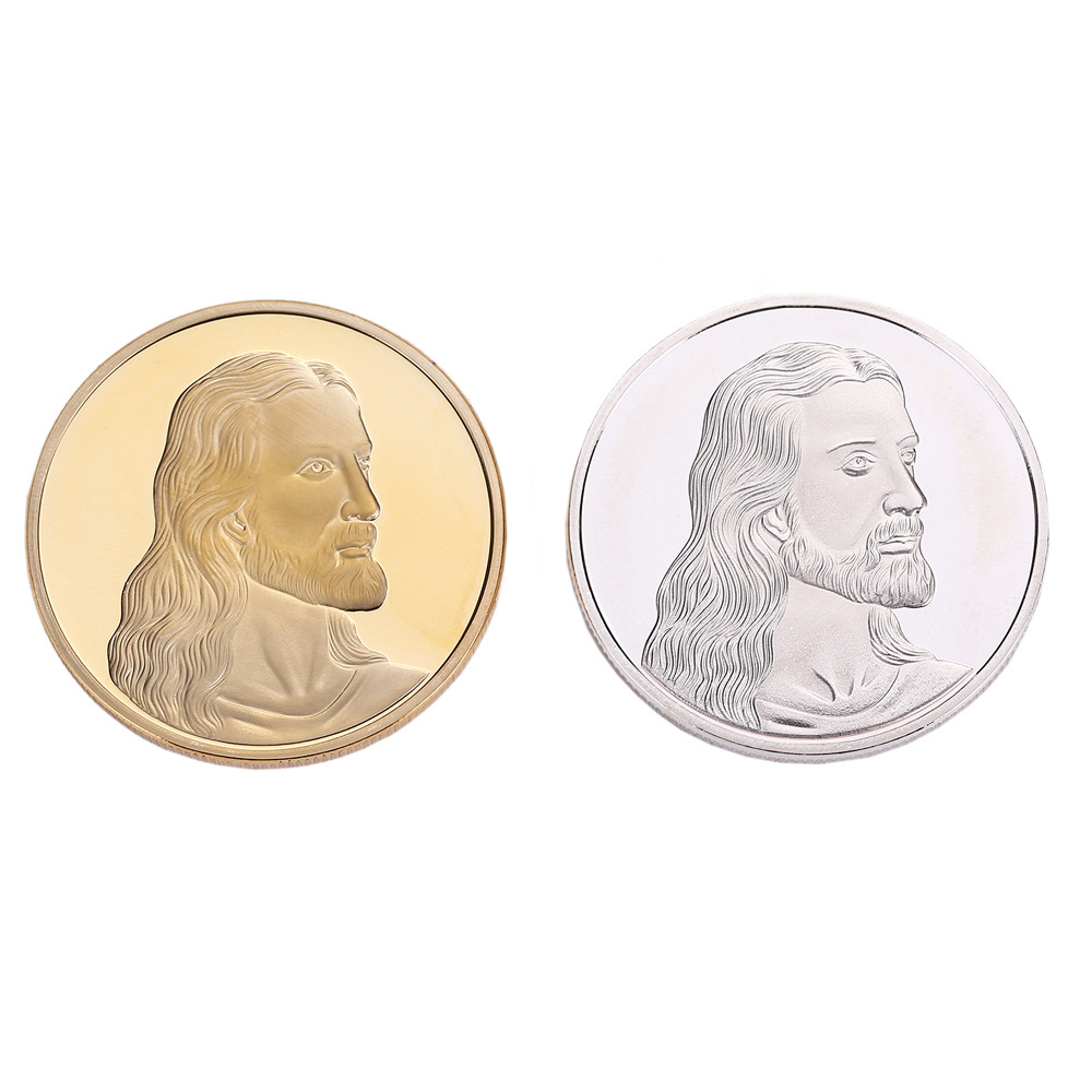 Custom Embossed Logo The Last Supper Round Iron 3D Jesus Coin