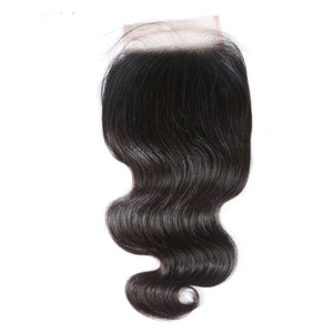Hot 9A human non-remy hair lace closures Brazilian hair natural skin looking no tangle no shedding straight