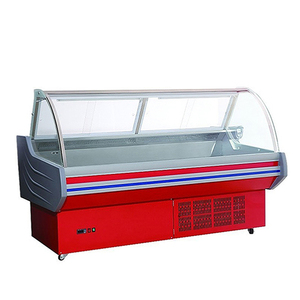 Free-standing five feet food service refrigeration deli showcase meat display cabinets