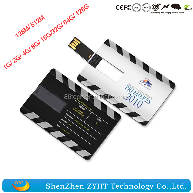 Business Card Pen Drive With USB 2.0 High Speed Credit Card USB Flash Drives for Promotion Gift