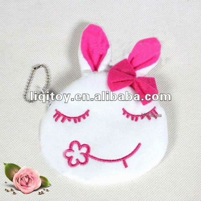 Plush rabbit coin purse