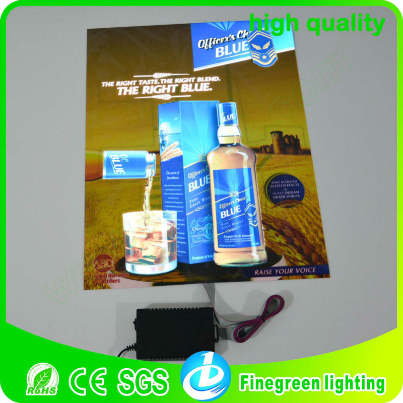 2018 Newest Popular led flashing poster/el panel advertising