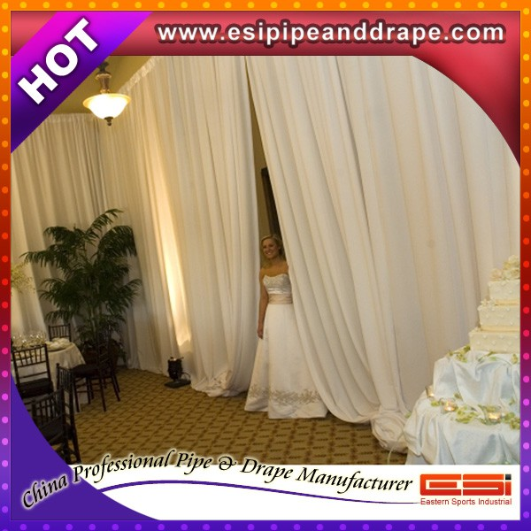 Hot sale chiffon drape for wedding decoration,pipe kits for wedding