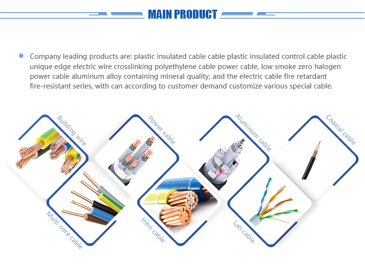 China manufacturer BV/BVR cable single hard core house wire used electric heating wire cable