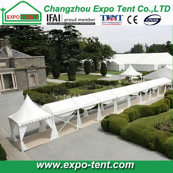 10m clear span wedding party tent with white PVC fabric