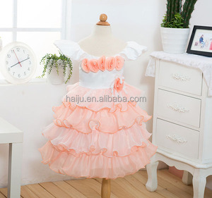 Wholesale Korea new design softtextile baby girl party dress children frocks