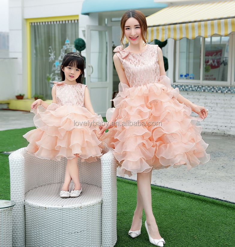 bulk wholesale clothing light orange wedding party dress ruffle bridesmaid dress