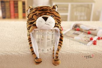 0452579e6c8 Lovely Plush Animals Hats With Paws Plush Tiger Hat - Buy Animal Hats With  Pockets