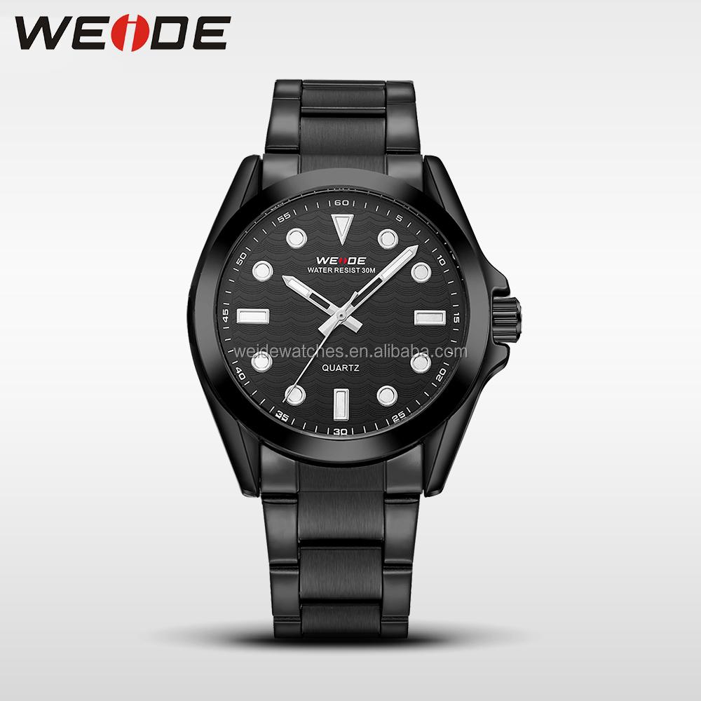 b3fe4260f54 Los hombres de moda De Weide reloj fecha estilo simple pulsera de acero  inoxidable
