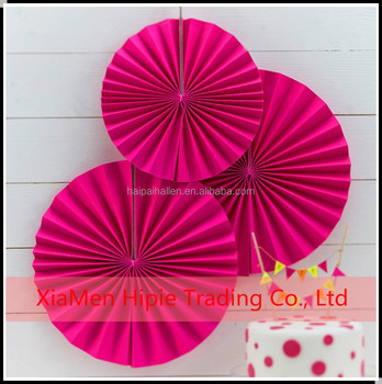 Diy Party Decorpink Paper Fan Backdrop Paper Rosette Kids Birthday