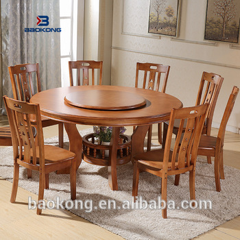 2018 Hot New Products Round Dining Table Set With Compeive Price Malaysian Wood Sets And Chair Philippine
