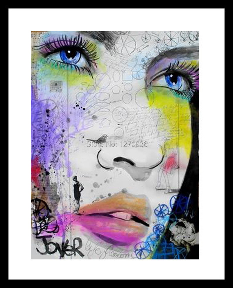 Collared Girl Tears Stream Glamorous Makeup Black Girl Beautiful <font><b>Asian</b></font> Girl Hand-painted Canvas Oil Painting Classic <font><b>Home</b></font> <font><b>Decor</b></font>