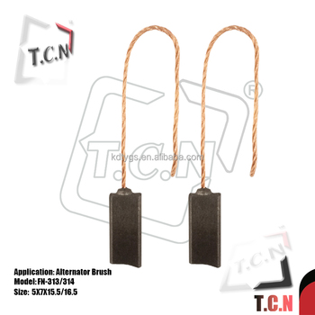 23135-h0300 Fn-313 314 Copper Graphite Carbon Brushes For Alternator - Buy  Carbon Brushes For Alternator,Carbon Brush For Electrical Machines,Electric