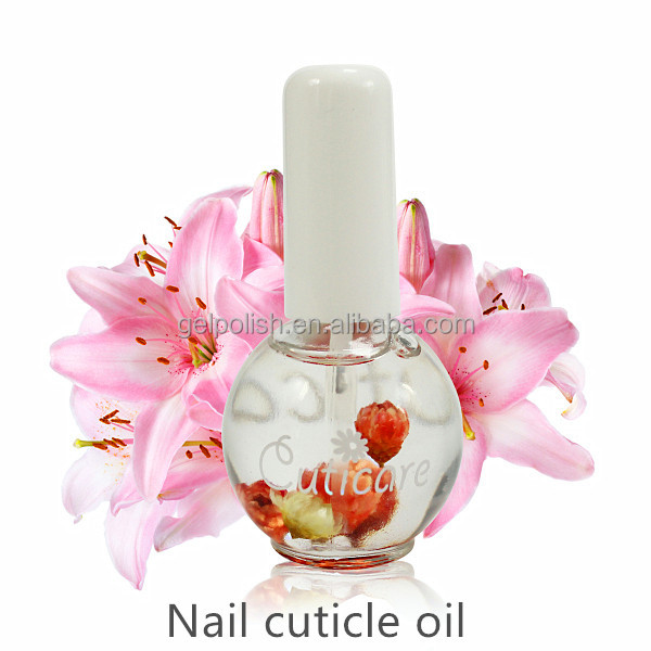 NEW 15ml bottle with dried flowers the best cuticle care product