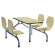 School canteen room 8 seats modern dining chair canteen table and chairs furniture set wholesale