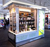 bespoke popular mall RMU unit for skin care product display cabinet