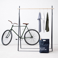 F40847A-1 Modern simple design for home and store wood and metal hat coat rack