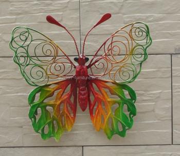 Maison Jardin Exterieur Beau Papillon En Metal Decoration Murale