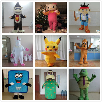 Hola popular mascots costumes/Customized commercial use cartoon mascot costume for sale