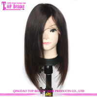 2016 New Style Glueless human hair short bob wigs with bangs Virgin Brazilian Lace Front Wig Bob Style