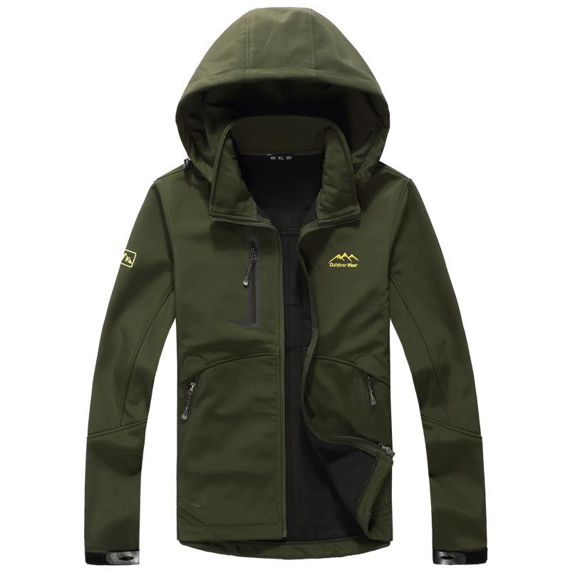 2015 winter warm jacket men outdoor sport military