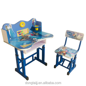 Orange Wooden Children Corner Study Table Designs