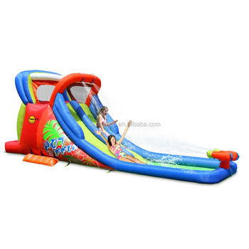 Happy Hop 9129-Inflatable Water Slide and Pool with Double Cannon,airflow water slide