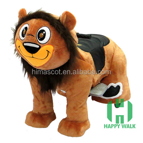 HI CE Electric king lion ride on horse,electric scooter with big wheels,plush animal electric scooter