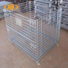 Alibaba hot sale heavy duty stackable wire mesh pallet cage