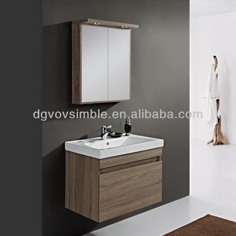 2014 moderne en bois massif armoire de toilette salle de for Armoire salle de bain bois massif