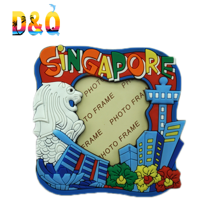 Quanzhou factory customized Singapore printed <strong>photo</strong> frame <strong>fridge</strong> <strong>magnet</strong>