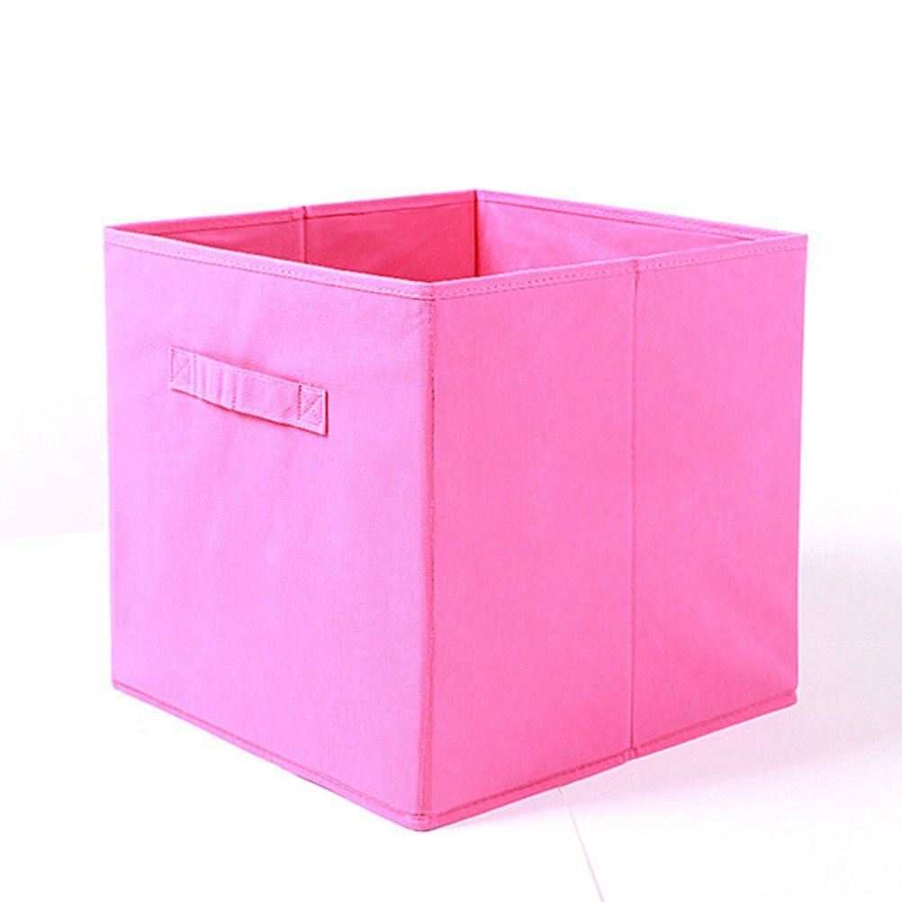 WINOMO Foldable Cloth Storage Cube Basket Bins Containers - Rose