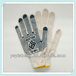 household gloves 10gauge machinery PVC dotted gloves working gloves for construction use