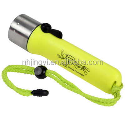 waterproof IP68 xml t6 underwater aa battery diving powerful led flashlight