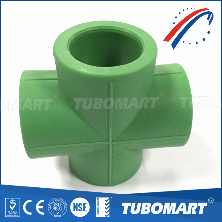 Eco-friendly ppr pipe and fitting ppr cross piece union with reasonable price