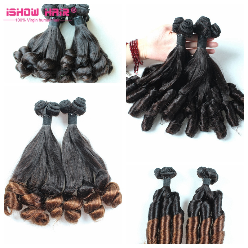 Aiexpress Brazilian Hair Bouncy Curls Virgin Hair Aunty Funmi Hair <strong>Human</strong>