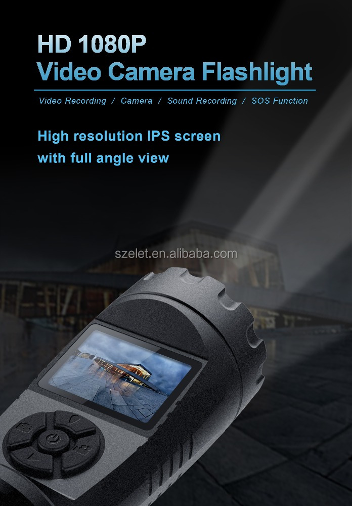 Wholesale waterproof IP56 multifunction rechargeable inspection HD 1080p Led camera flashlight ,Video & Audio torch