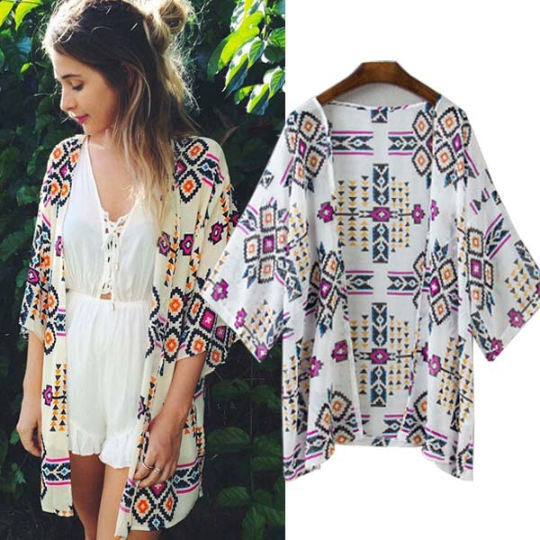 Embroidered Long Beach Dress Cover Up Beach Dress cardigan