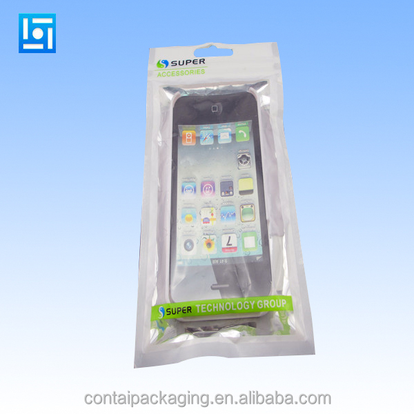 iphone 4s 5s 6s plastic ziplock bag/iphone mobile phone accessories plastic bag/3 sides sealed ziplock mobile phone plastic bag