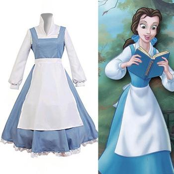 Beauty And The Beast Cosplay Costume Princess Belle Maid Dress Buy